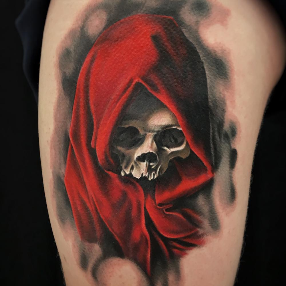 Skull_In_Red_Hood_Tattoo