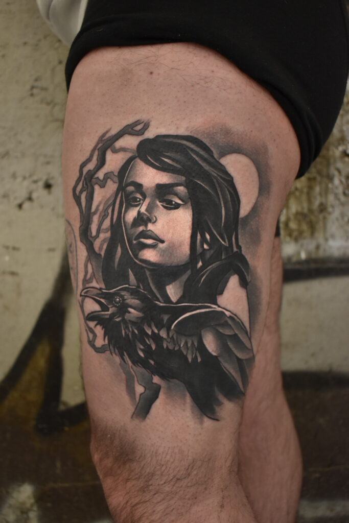 Woman_And_Crow_Tattoo